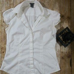 Ann Taylor SZ 8 white blouse